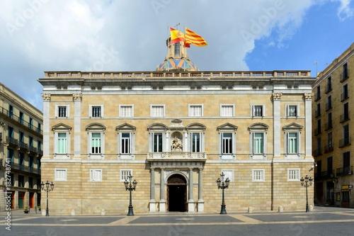 Palau De La Generalitat De Catalunya At The Old City Ciutat Vella