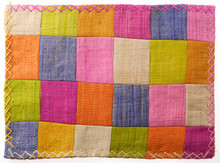 Closeup At Colorful Patchwork ...