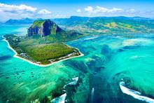 Aerial View Of Mauritius Islan...