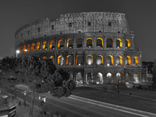 View At Roman Coliseum At Nigh...