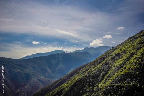 Canvas Print Haitian Mountainside during the day