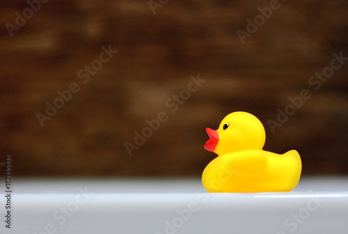 Children\'s rubber ducky in the bathtub. Baby bathing concept. - Buy ...