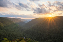 Sunset Over A Valley In West Virginia