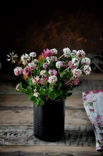 On The Table In A Vase A Bouqu...