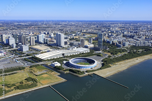 Foto auf Gartenposter Stadion 幕張メッセ/空撮
