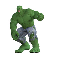 Angry Green Giant Isolated On ...