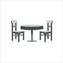 Table And Chairs Icon. Vector ...