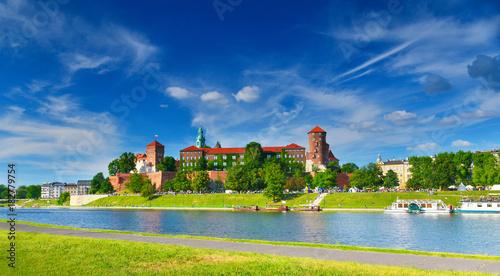 Spoed Foto op Canvas Krakau Wawel castle, Poland