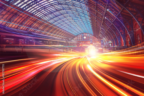 fototapeta na ścianę Abstract motion speed background of London City