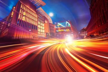 Abstrakcjonistyczny ruch prędkości tło Londyński miasto