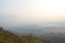 Aerial View Landscape Mountain And Forest In Nan City From Doi Samer Dao In Sri Nan National Park Of Nan At Thailand