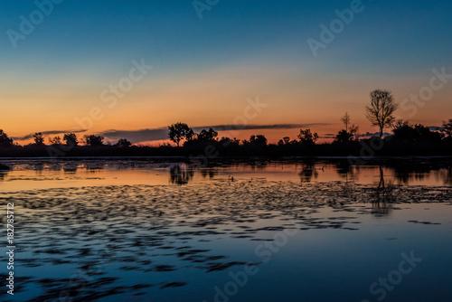Staande foto Afrika Sunset on the Okavango Delta