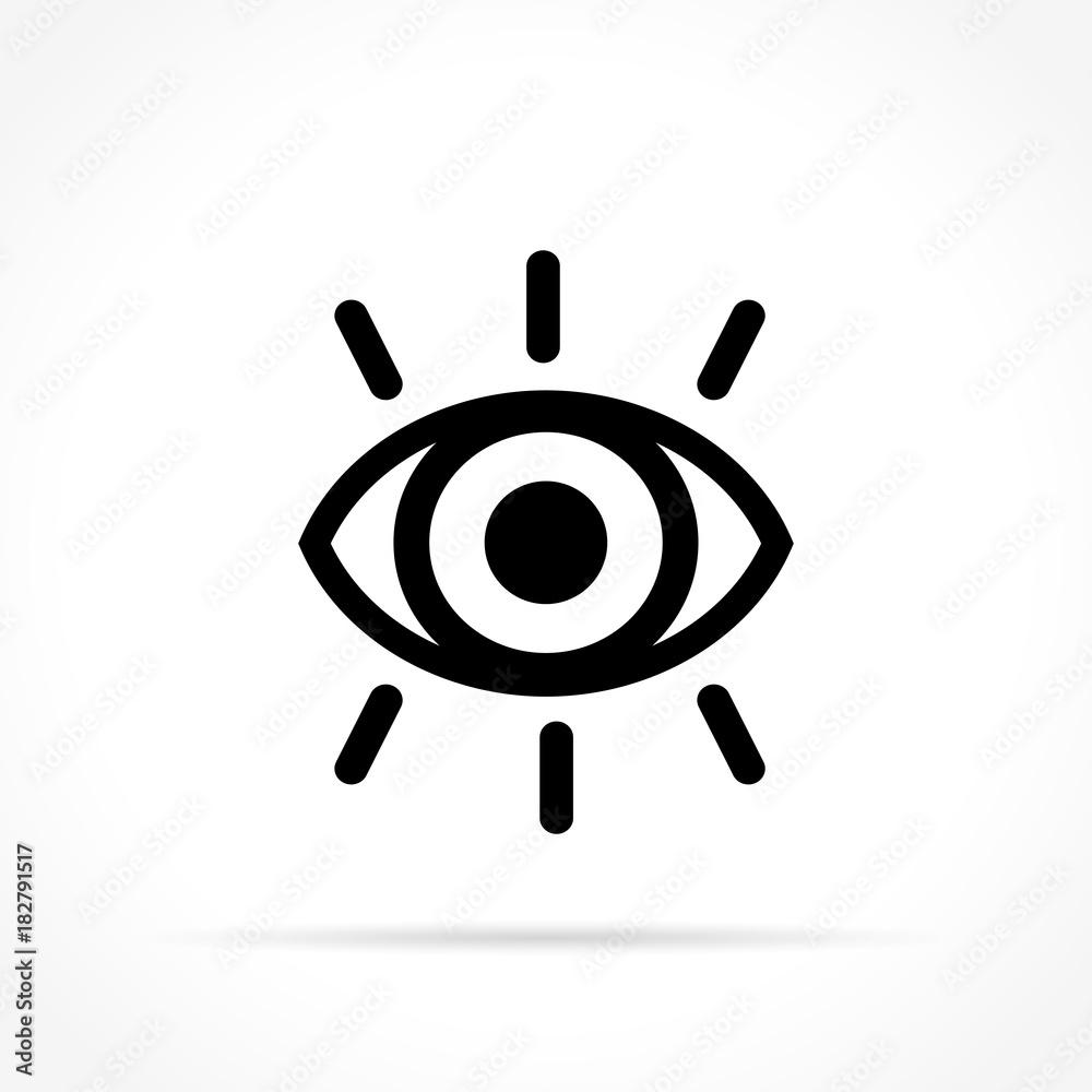 Fototapeta eye icon on white background