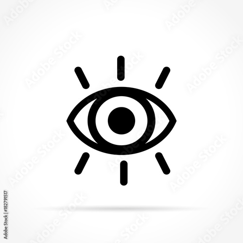 eye icon on white background Fototapete
