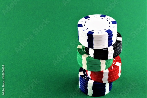 An concept Image of poker Chips with copy space плакат