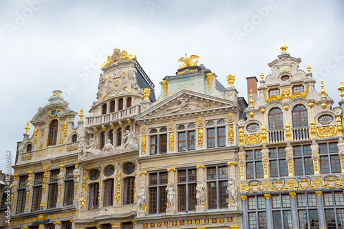Guildhalls on the Grand Place it is the central square of Brussels. Belgium.