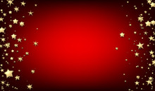 Red Background With Gold Stars.