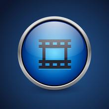Push Button - Dark Blue Web Icon