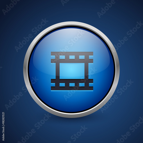 Push Button - Dark Blue Web Icon Wallpaper Mural