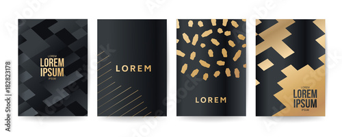 Memphis style cover gold polygon frame style luxury design pattern gold polygon frame style luxury design pattern with geometric shapes stopboris Choice Image