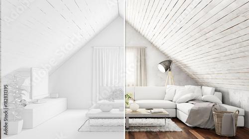 Dachgeschoss Raumplanung Für Wohnzimmer