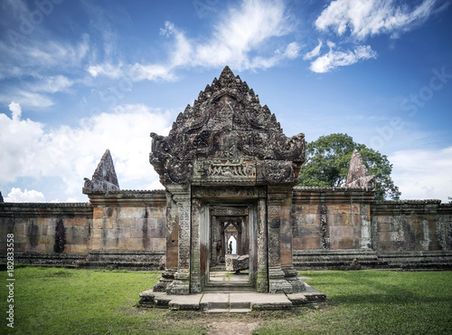 Wall Murals Place of worship preah vihear famous ancient temple ruins landmark in cambodia