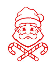 Santa Claus Vector Outline