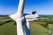 canvas print picture - Windkraftanlage in Deutschland von oben