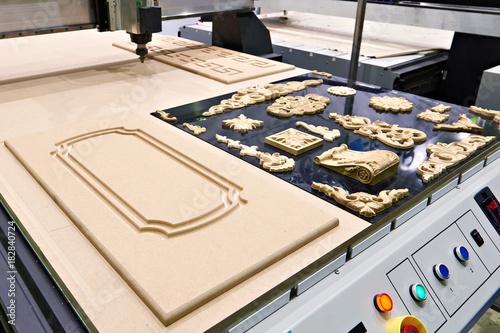 Fototapeta Industrial milling engraving machine obraz