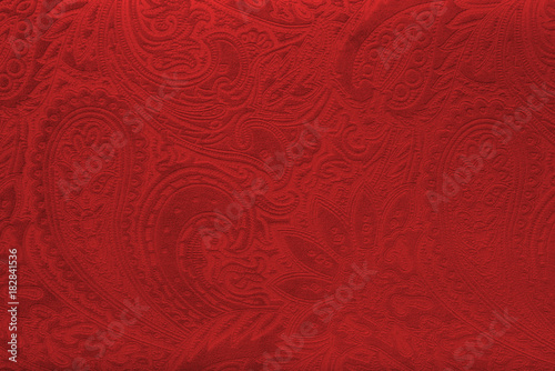 Cuadros en Lienzo Red velvet fabric with a vintage elegant floral pattern or a luxury texture