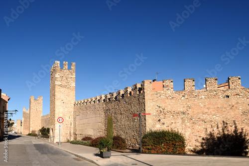 Staande foto Marokko Walls of Montblanc in Tarragona province, Catalonia, Spain