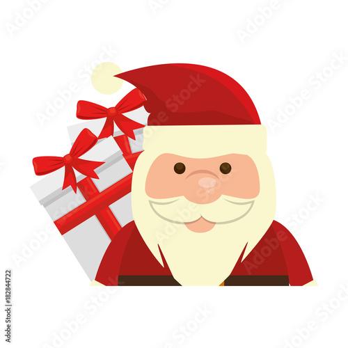 Papiers peints Chambre bébé cute santa claus with gift present vector illustration design
