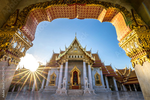 Cadres-photo bureau Bangkok Bangkok City - Benchamabophit dusitvanaram temple from Bangkok Thailand