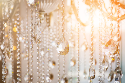 Carta da parati Luxury crystal chandelier close-up