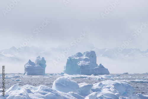 Keuken foto achterwand Poolcirkel Greenland, arctic, north pole : amazing iceberg on the sea, we can still see this before complete climate change
