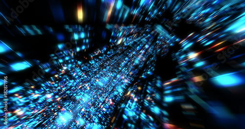 Fotografiet  3D Futuristic abstract background