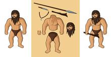 Set Of Vector Cartoon Ancient ...