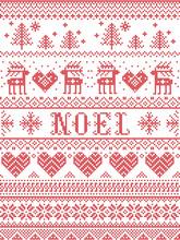 Seamless Noel Scandinavian Fab...