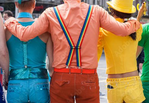 Fotografía  Colorful Group of People at Gay Pride Parade
