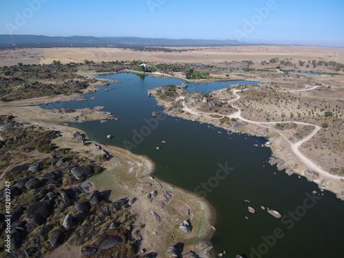 Foto  Los Barruecos desde el aire