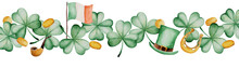 Watercolor Saint Patrick's Day...
