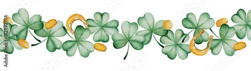 Fotografía  Watercolor Saint Patrick's Day banner