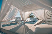 Luxury Beach Scene. Sea View A...