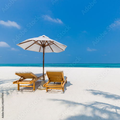 Idyllic Tropical Beach Landscape For Background Or Wallpaper Design