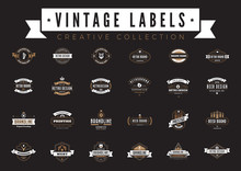 Vintage Labels Logo Vector. Co...