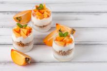 Persimmon Creamy Trifle In Bea...