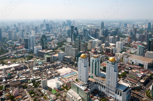 Panoramic view of the Bangkok from the observation deck, buildings, skyscrapers Poster