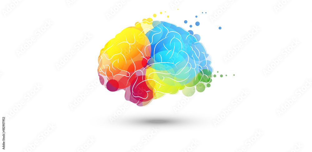 cervello, fantasia, colori