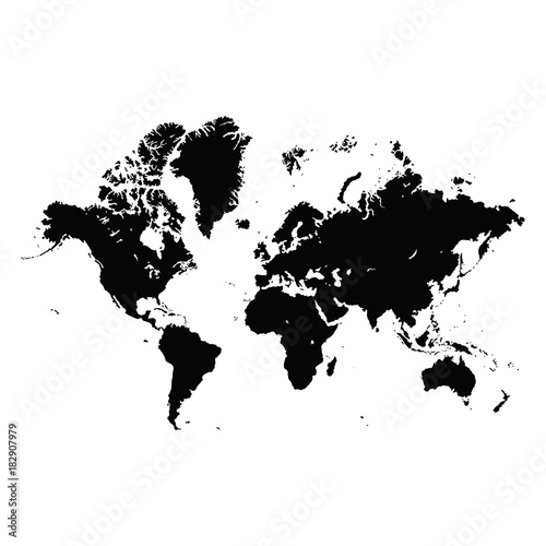 Graphic design editable for your design hand drawn world map in graphic design editable for your design hand drawn world map in black isolated on white gumiabroncs Images