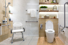 Interior Of Bathroom For The D...